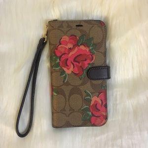 Coach iPhone XR Folio Flower signature case